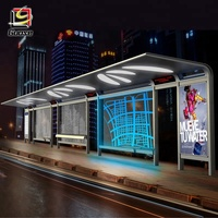 Passenger Waiting Shelter Outdoor Shelter Stainless Steel Bus Stop Shelter Price for Wholesale