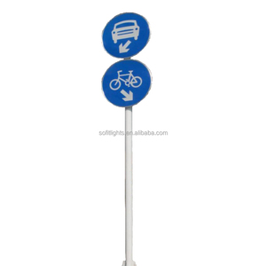 Well 2.5m height hot dip galvanized Road traffic steel sign pole