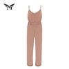 New style soft designer ladies casual sleeveless spaghetti strap female long jumpsuit