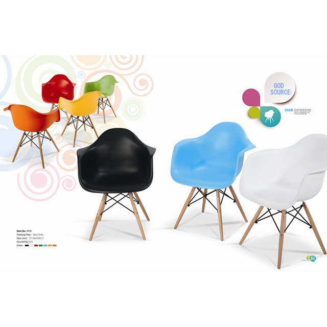 Italy style modern colorful PP chair plastic relax chair for living room