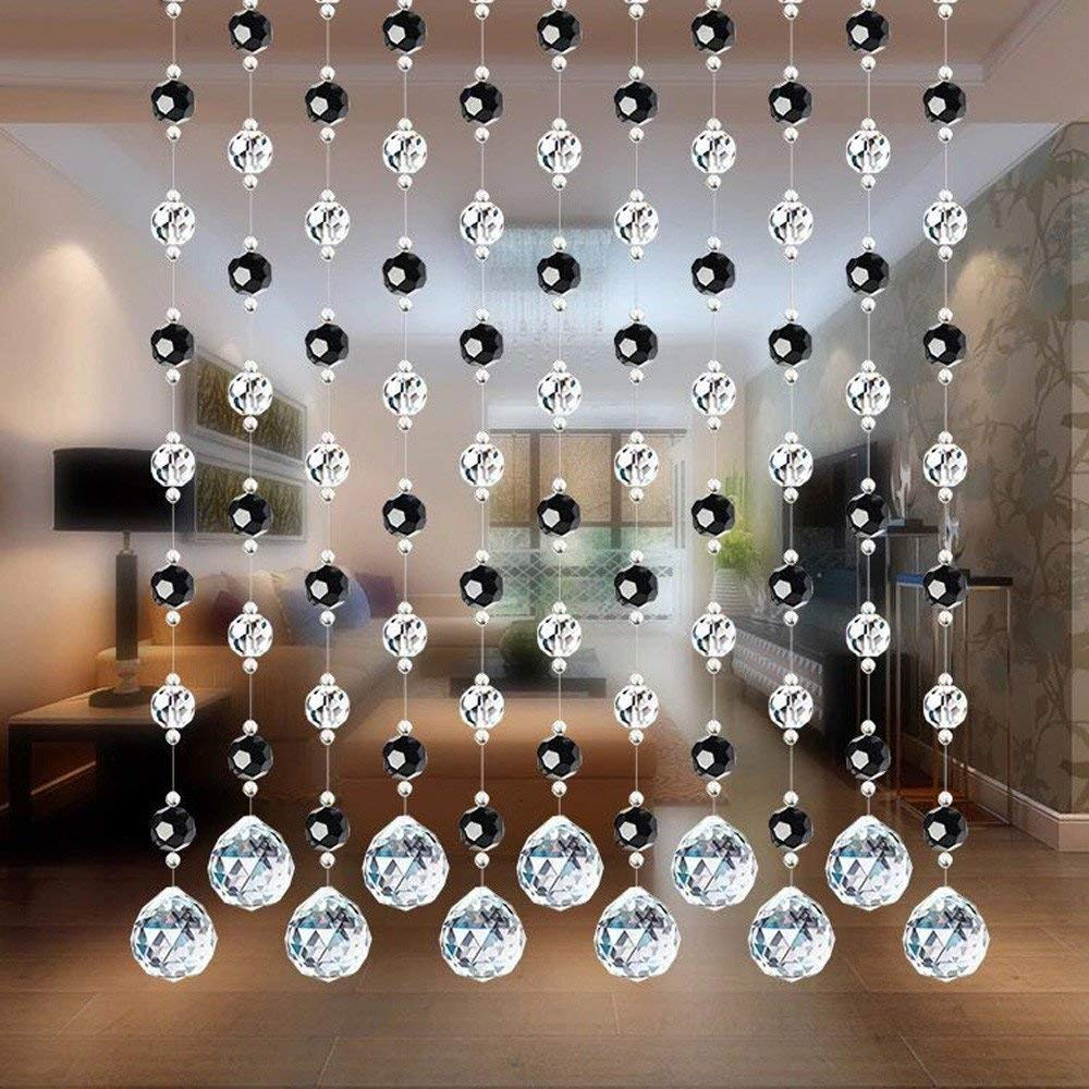 Hongxin Crystal Curtain, Curtains Crystal Glass Bead Curtain Luxury Curtains For Living Room Butterfly Home Decor Curtain Creative Gift,1M