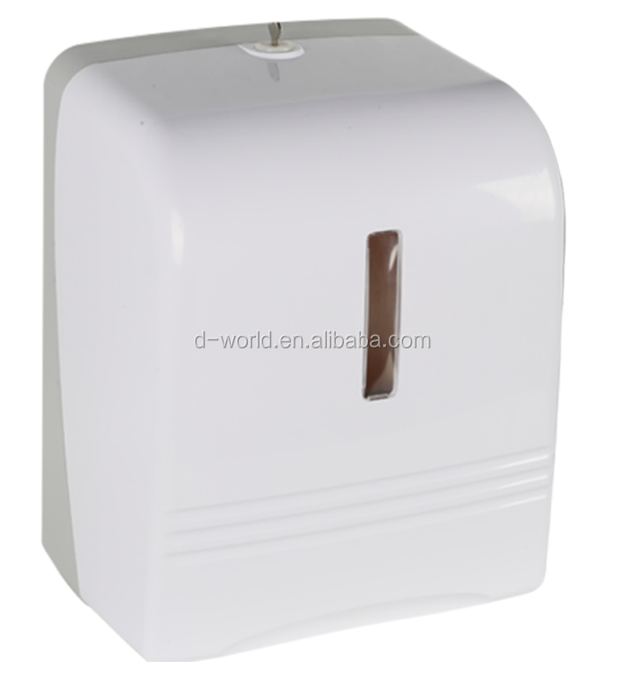 Plastic Wall Mounted Auto Cut Papieren Handdoek Dispenser Auto Cut Handdoek Papier Dispenser