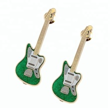 Cool Fashion hard guitarra esmalte pin <span class=keywords><strong>de</strong></span> <span class=keywords><strong>lapela</strong></span> com glitter