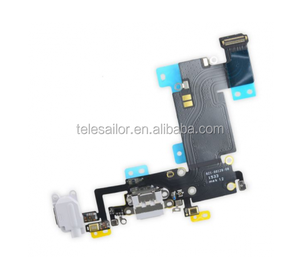 Grey Charging +Headset+microphone flex cable for Iphone 6s Plus,USB charging flex cable