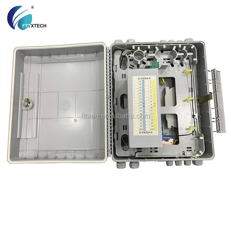 FTTH FTTB FTTX indoor and outdoor ABS PC anti UV material 64 cores optical fiber pre connector box Points
