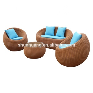 Latest design outdoor rattan outdoor furniture wicker handmade sofa sets