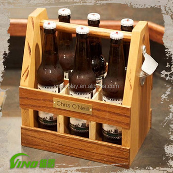 Shabby Chic Custom Wooden Stand Beer Caddy Vintage