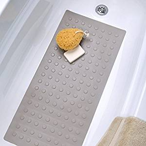 Superior Get Quotations · Large Rubber Bath U0026 Shower Safety Mat Non Slip Bathtub Mat  (Almond)