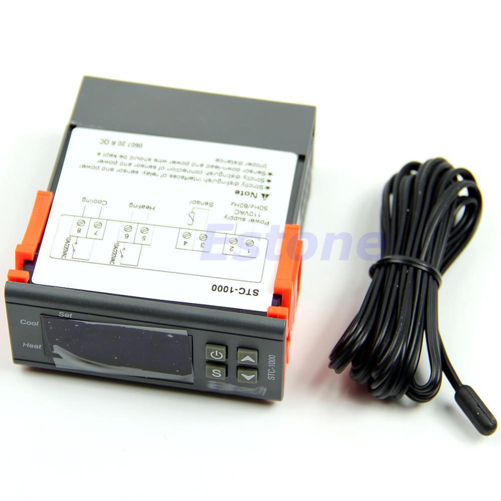 Get Quotations · A31 New Arrive Digital Temperature Control Regulator  Controller STC-1000 All-purpose 110V AC
