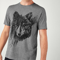High Quality Mens Classic Printing Design Medium Size OEM ODM Custom Wolf Washed Graphic T-Shirt