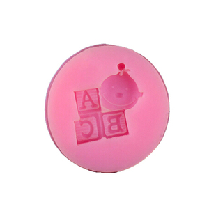 food grade silicone mold baby ABC letters pattern cake soap chocolate mold