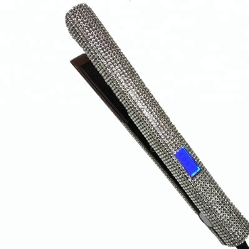 custom rhinestone bling flat irons professional private label hair tools