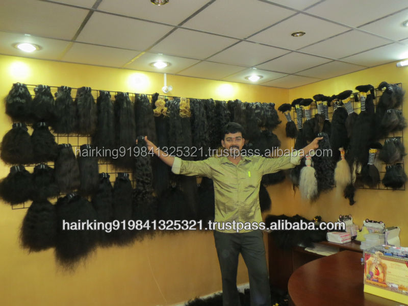 WHOLE SALE 100 % PURE VIRGIN KINKY/CURLY/STRAIGHT HAIR AVAILABLE CHENNAI INDIA FROM HAIR KING COMPANY