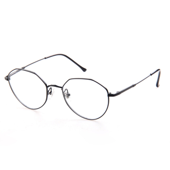33aa827f019 Latest Fashion Vintage Round Style Acetate Metal Frame Thin Temple Black Glasses  Frame Optical With Clear