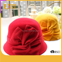 Bright color to give you a good mood pure wool wool pots girl autumn and winter dome fisherman hat blanket hat