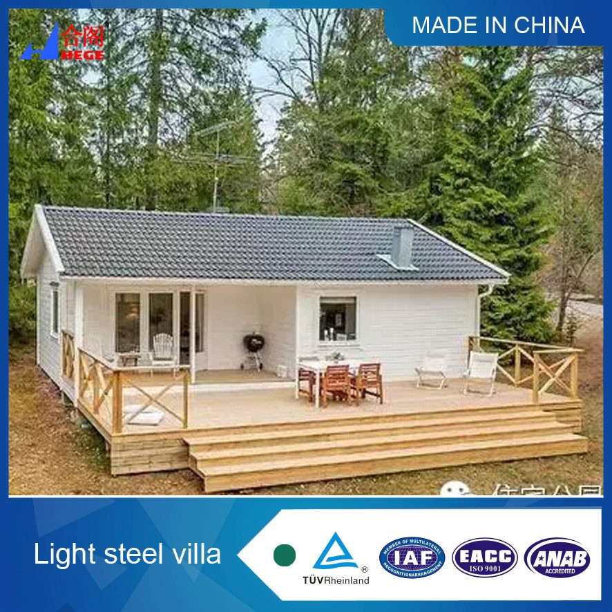 Prefabricated luxury steel structure villa high quality modern system steel
