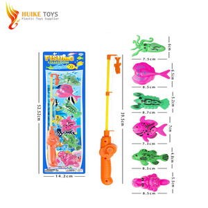 Cheap play fishing set plastic telescopic rod toys magnetic fishing game for sale