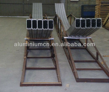 Curvado aluminio perfiles para tienda 6063 buy product for Perfiles aluminio para toldos correderos