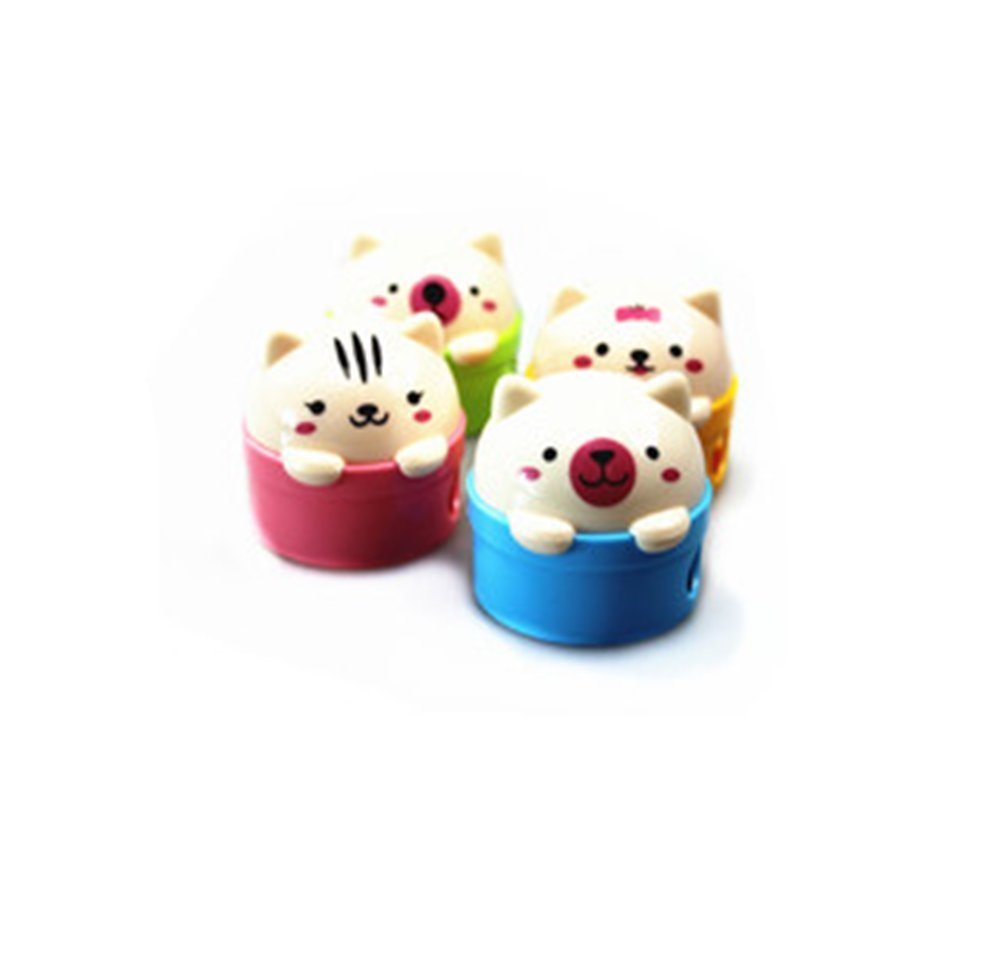 Schoolsupply 2pcs Lovely Cute Cartoon Animal Pussy Cat Pencil Sharpeners for Kids