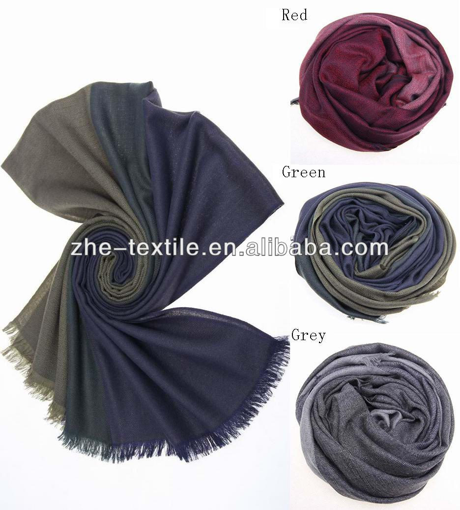 100% cashmere double layer woven scarf for men