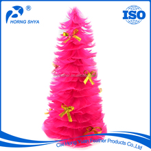 "FT-24 Goose Coquille Feather Tree With Butterfly 12"" 18"" 24"" Customized Length 30x8cm Handmade Customized Christmas Tree"
