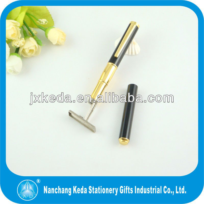 2015 Promotional Gift Metal pen Stamp Seal Ball Pen With Client Personal Name