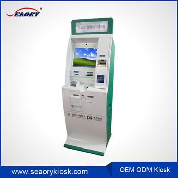 Wifi Slat Wall Kiosk Design Bill Acceptor Touch Screen Ticket ...