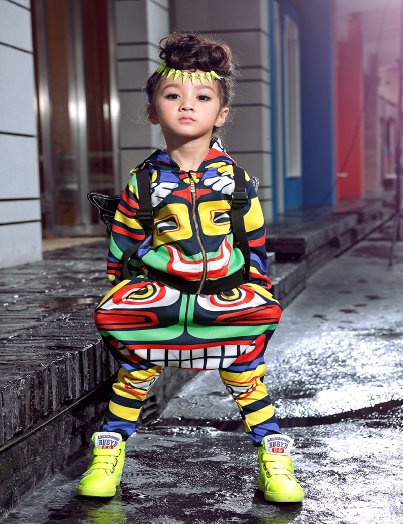 New fashion maya children's clothing set dance wear ...