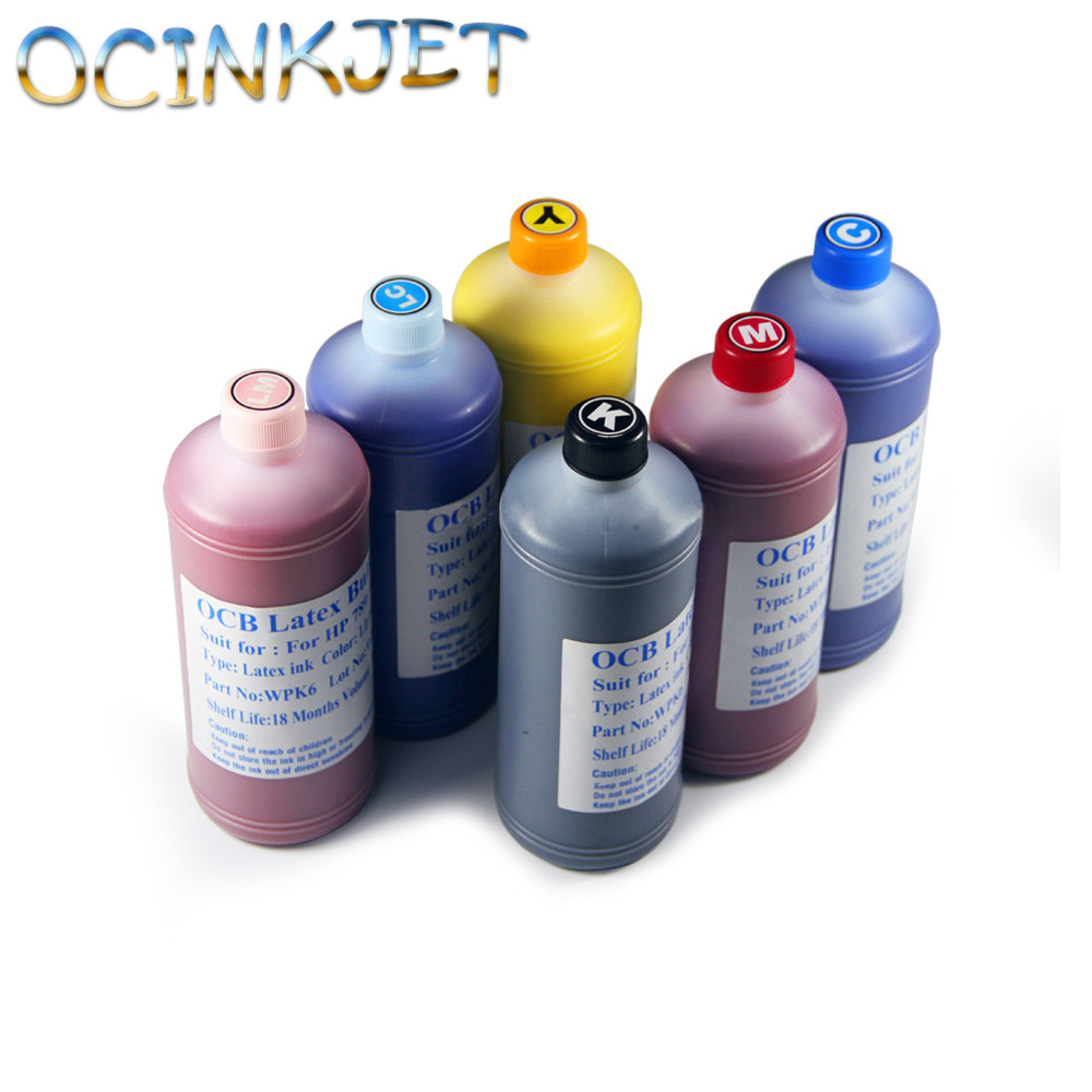 1000ML 6 Colors Genuine Latex Ink For HP 831 Printer Latex 360 370 Original Latex Ink