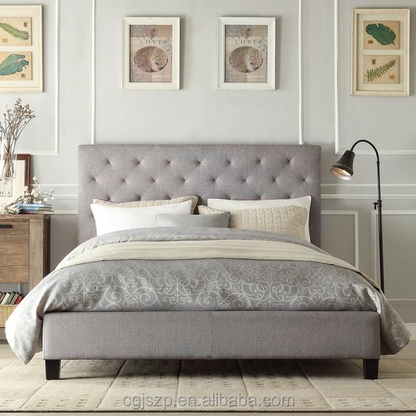 precio barato del diseo simple gris botn tela cabecero tapizado de cuero plataforma de la cama with cabecero tapizado barato