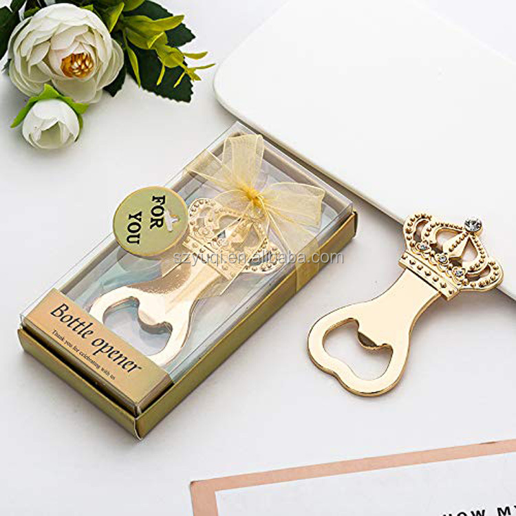 Amazon Top Seller 2019 Crown Shape Bottle Opener for Baby Bridal Shower Favors Wedding Birthday Party Decoration with Gift Box