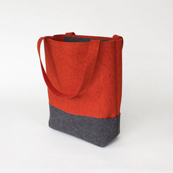 Promotional Custom Whole Orange Charcoal Gray Felt Bag Wool Tote