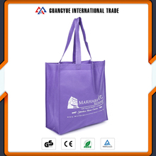 Guangyue New Promotion Recyclable Purple Non Woven Tote Shopping Bag