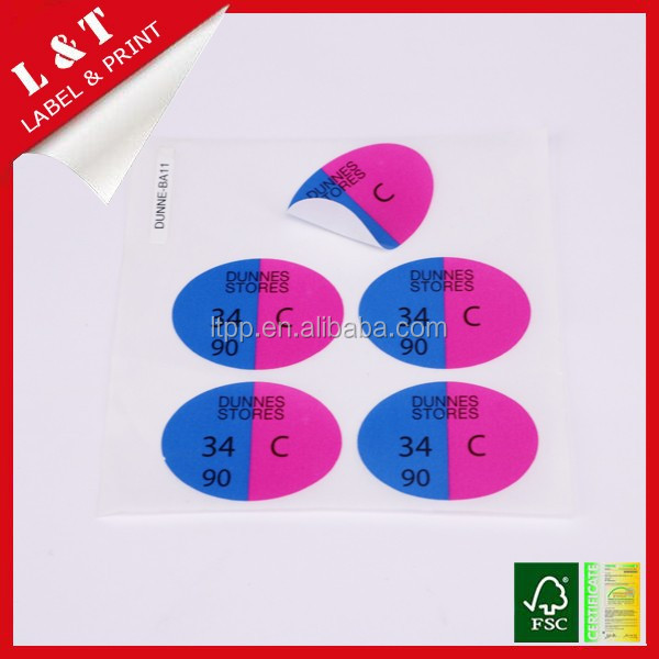 Bulk supply child pants size sticker