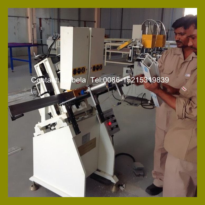 UPVC window fabrication machine 3 axis automatic drainage slot milling machine