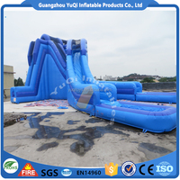 Guangzhou Factory Giant Water Park Slides For Sale Giant Inflatable Water Slide For Adult
