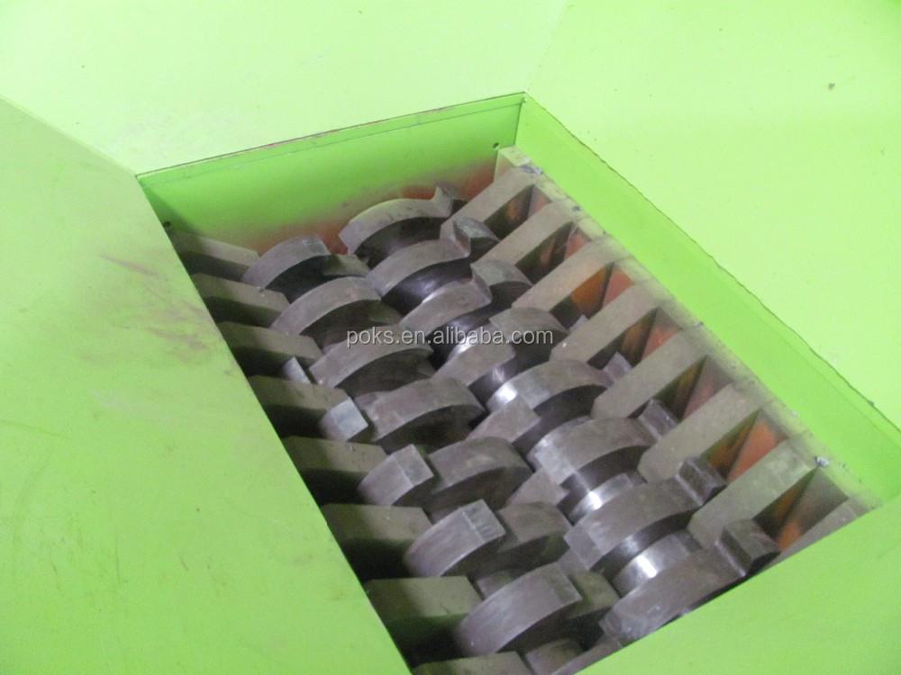 औद्योगिक अपशिष्ट फिल्म बिक्री के लिए बोतल बैग का पट्टा रीसाइक्लिंग डबल शाफ्ट प्लास्टिक तकलीफ
