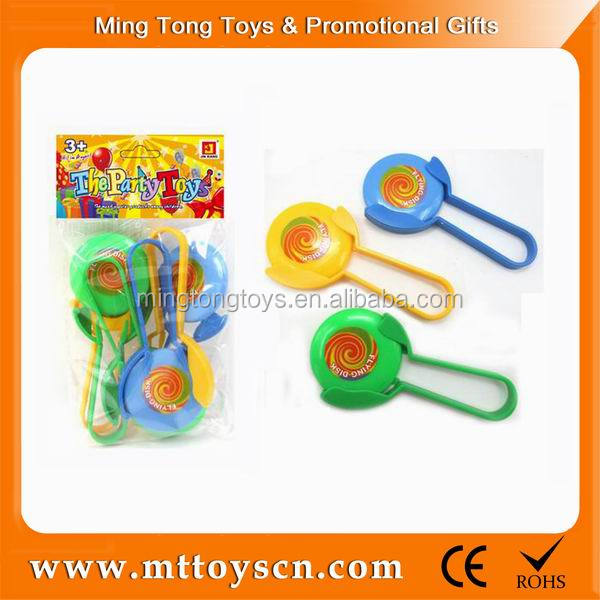 plastic wholesale mini shoot off flying disc frisbee