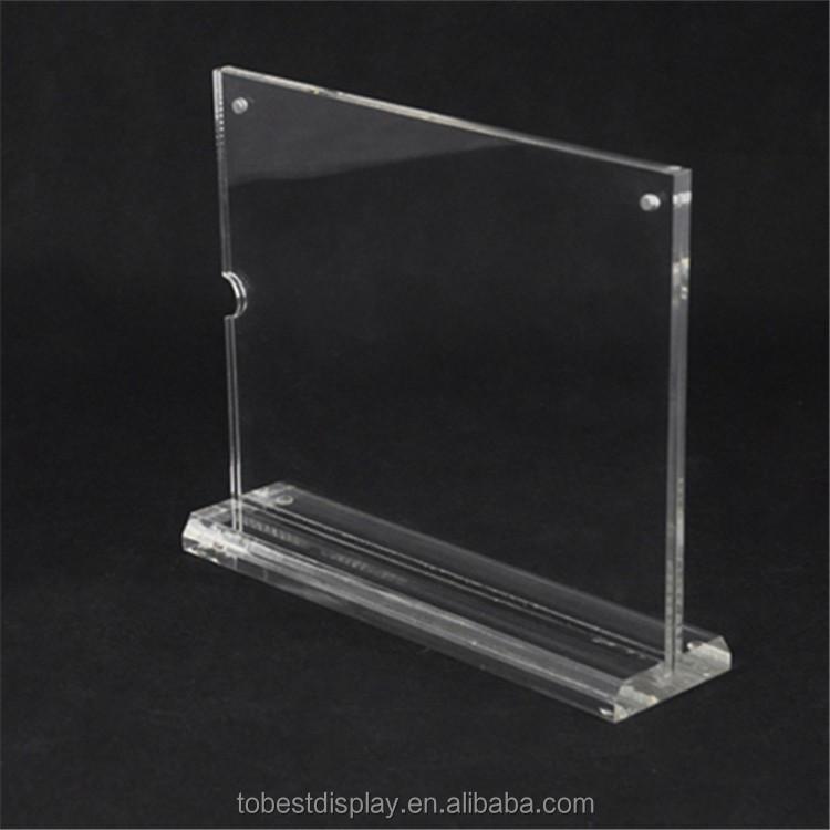 acryl tisch karte st nder rack preisschild schildhalter. Black Bedroom Furniture Sets. Home Design Ideas