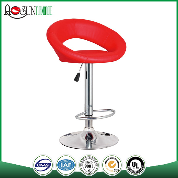 China supplier ISO 9001 Factory Colorful red bar stool