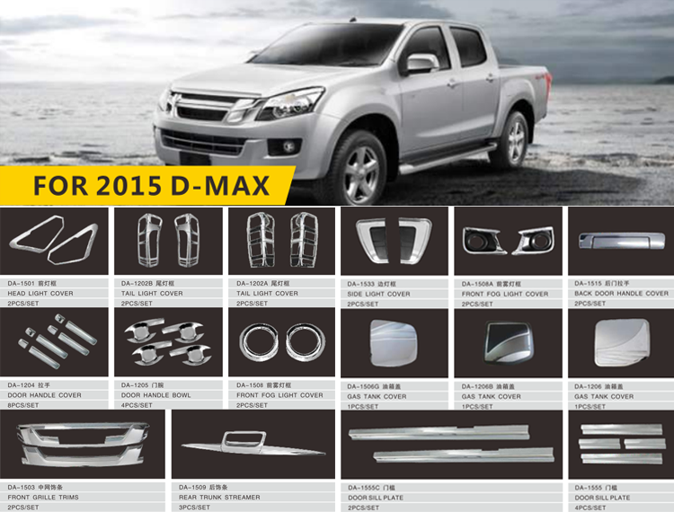 exterior accessories car Suitable dmax accessories 4x4 Customized rear door handle covers