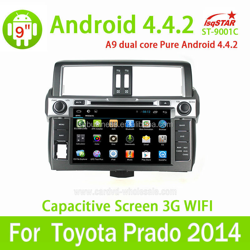 Pure android car dvd WIFI 3G double din for Toyota Prado android car dvd