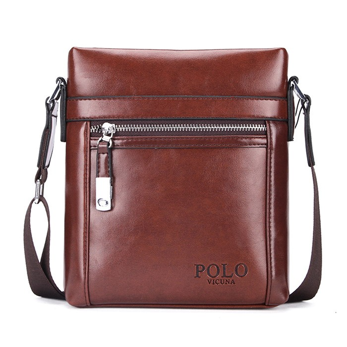 VICUNA POLO High Quality Leather Brand Man Bag Men s Crossbody Bag Hot  Selling Khaki Shoulder Bags 076d979a08f7e