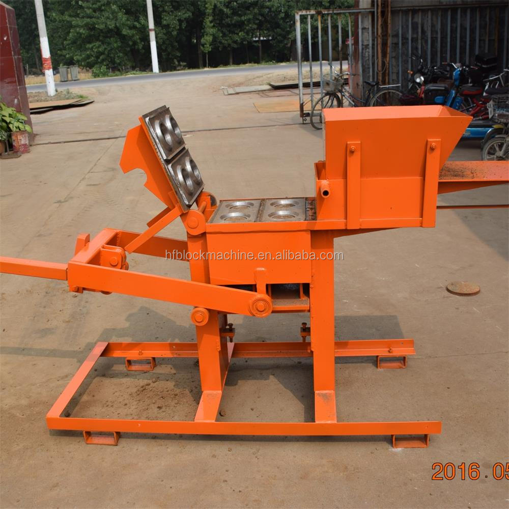 QMR2-40 small manual hollow interlocking clay lego brick making machine