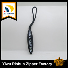 rubber custom logo zipper puller with cord
