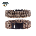Wholesale Paracord Bracelets with plastic clasp for outdoor activies hiking, camping