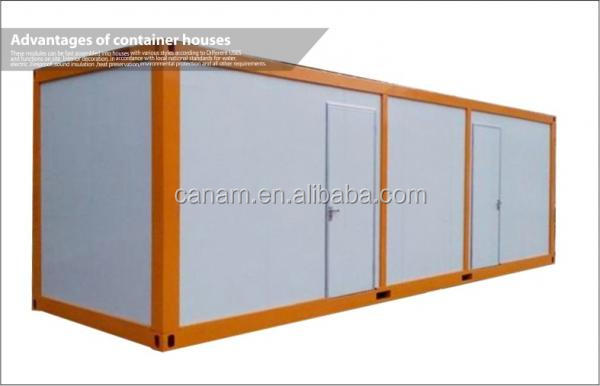 Colorful portable modular flat pack container living house with CE certificate