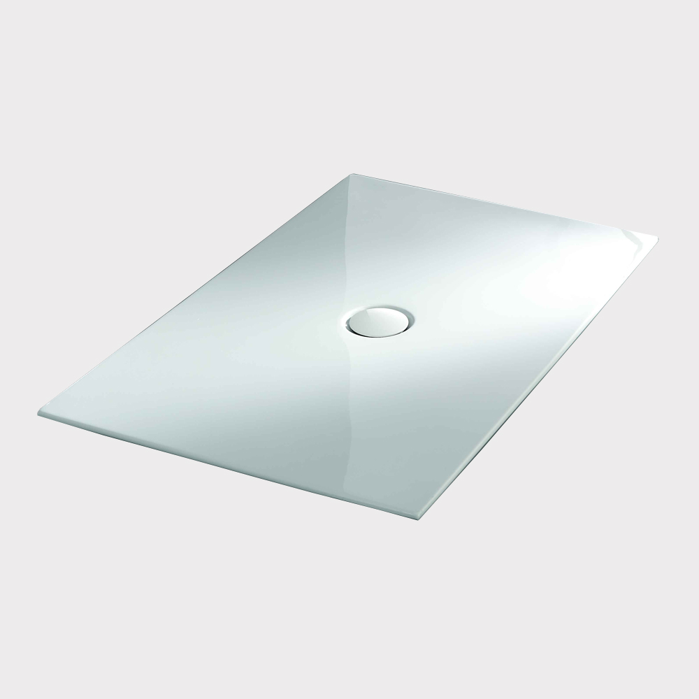 Rectangle low height acrylic shower tray with drainer PB001