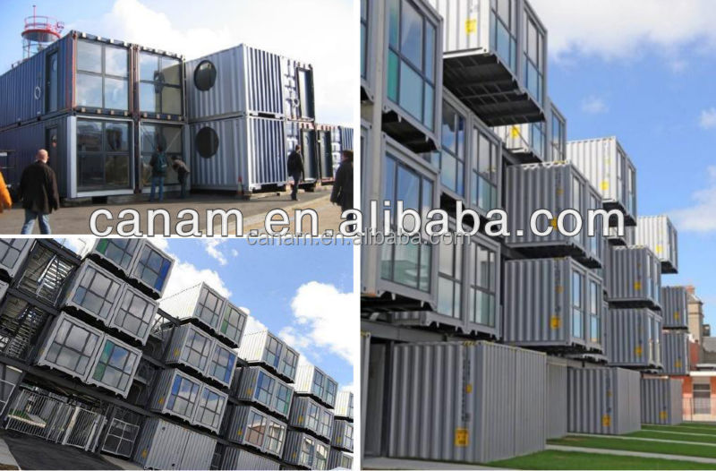 CANAM-Modular prefab container house steel foundation