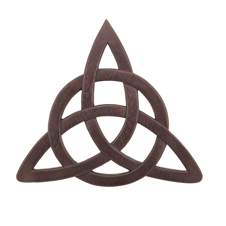 Adorox Celtic Resin Trinity Knot Hanging Wall Decor Faith Blessing Spirit Religious